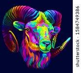 mountain sheep. abstract ...   Shutterstock .eps vector #1584749386