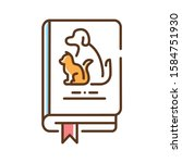 pets book color line icon....