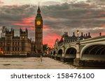 big ben clock tower and... | Shutterstock . vector #158476100