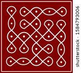 traditional indian folk art  ...   Shutterstock .eps vector #1584793006