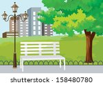 public park in the city | Shutterstock .eps vector #158480780