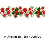 vector seamless christmas... | Shutterstock .eps vector #1584808003