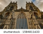 The West Front Of York Minster...