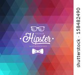 hipster background. vector... | Shutterstock .eps vector #158482490