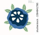 hand drawn stylized flower clip ... | Shutterstock .eps vector #1584841780