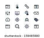 seo and optimization icons | Shutterstock .eps vector #158485880