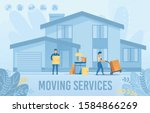 home moving service for new... | Shutterstock .eps vector #1584866269