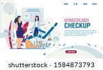 flat landing page offering... | Shutterstock .eps vector #1584873793