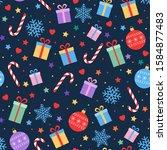 cute festive background.... | Shutterstock .eps vector #1584877483