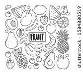fruit hand drawn doodle vector | Shutterstock .eps vector #1584880519