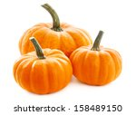 Pumpkins Isolated On White...