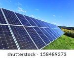 detail of the solar power... | Shutterstock . vector #158489273