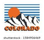 vector colorado snowy mountain... | Shutterstock .eps vector #1584906469