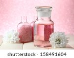 glass bottle with color essence ... | Shutterstock . vector #158491604