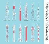 towers flat vector... | Shutterstock .eps vector #1584966469