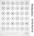 vector thin icons design set....
