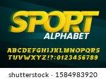 sport alphabet font. abstract... | Shutterstock .eps vector #1584983920