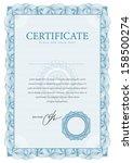 template border diplomas ... | Shutterstock .eps vector #158500274