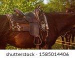 Western Saddle   Leather...