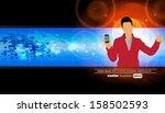 man using smartphone. vector | Shutterstock .eps vector #158502593