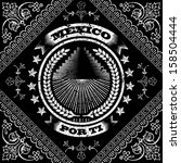 mexico por ti pattern | Shutterstock .eps vector #158504444