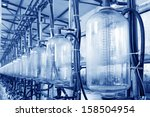 glass milk storage tank in a... | Shutterstock . vector #158504954