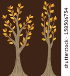 fall trees | Shutterstock .eps vector #158506754
