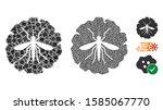 dengue fever virus icon... | Shutterstock .eps vector #1585067770