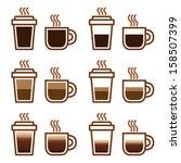 Coffee Set Types Menu In Vector ...