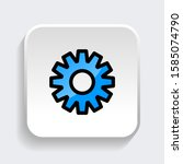 set of gear icon. symbol of...