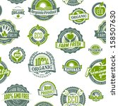 farmer organic icon fruit food... | Shutterstock .eps vector #158507630
