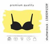 woman underwear  the silhouette.... | Shutterstock .eps vector #1585091539