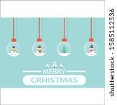 modern christmas card flat... | Shutterstock .eps vector #1585112536