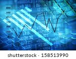electronic stock numbers and... | Shutterstock . vector #158513990