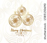 merry christmas getting card... | Shutterstock .eps vector #1585150690