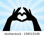 heart shape made with hands   Shutterstock .eps vector #158515148