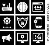 set of 9 universal pixel... | Shutterstock .eps vector #1585197226