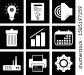 set of universal icons for your ... | Shutterstock .eps vector #1585197259