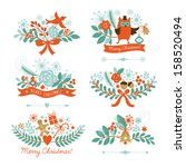 set of christmas and new year... | Shutterstock .eps vector #158520494
