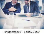 image of two young businessmen... | Shutterstock . vector #158522150