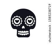 sugar mexican skull for dia de...   Shutterstock .eps vector #1585238719