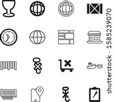 logistic vector icon set such... | Shutterstock .eps vector #1585239070