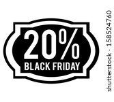 abstract black friday label on... | Shutterstock .eps vector #158524760