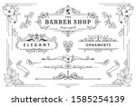 classic ornament frame  vintage ...   Shutterstock .eps vector #1585254139