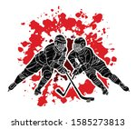ice hockey players action... | Shutterstock .eps vector #1585273813