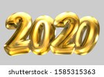2020 new year balloon text with ... | Shutterstock . vector #1585315363