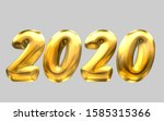 2020 new year balloon text with ... | Shutterstock . vector #1585315366