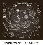 vector illustration of a set of ... | Shutterstock .eps vector #158531879
