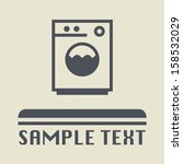 washing machine icon or sign ... | Shutterstock .eps vector #158532029