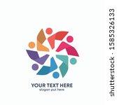 global community logo icon... | Shutterstock .eps vector #1585326133
